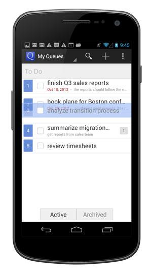 Tasks will appear semi-transparent when dragging.
