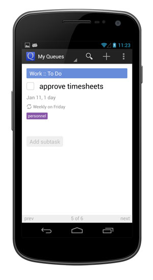New tasks are generated based on the repeat pattern you designated.
