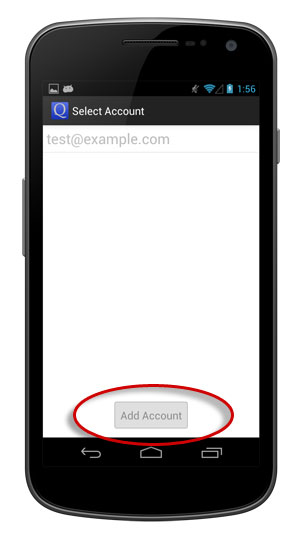 Tap Add Account button.