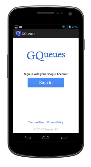 Sign in to your Google account.