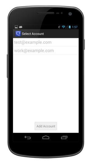 Switch between accounts.